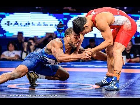Jordan Burroughs (USA) vs Unurbat Purevjav (MGL) 2015 Gold Medal Match Ending (4k Highlights)
