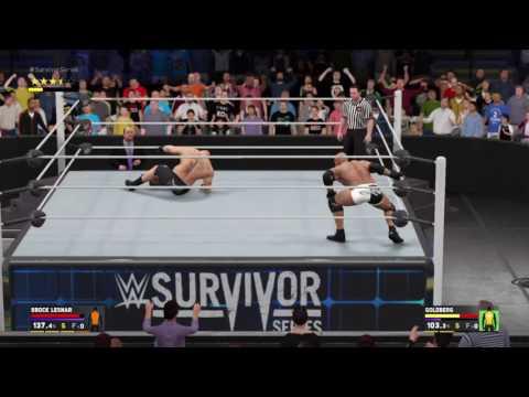 Wwe 2k17 brock lesnar vs Goldberg Survivor Series