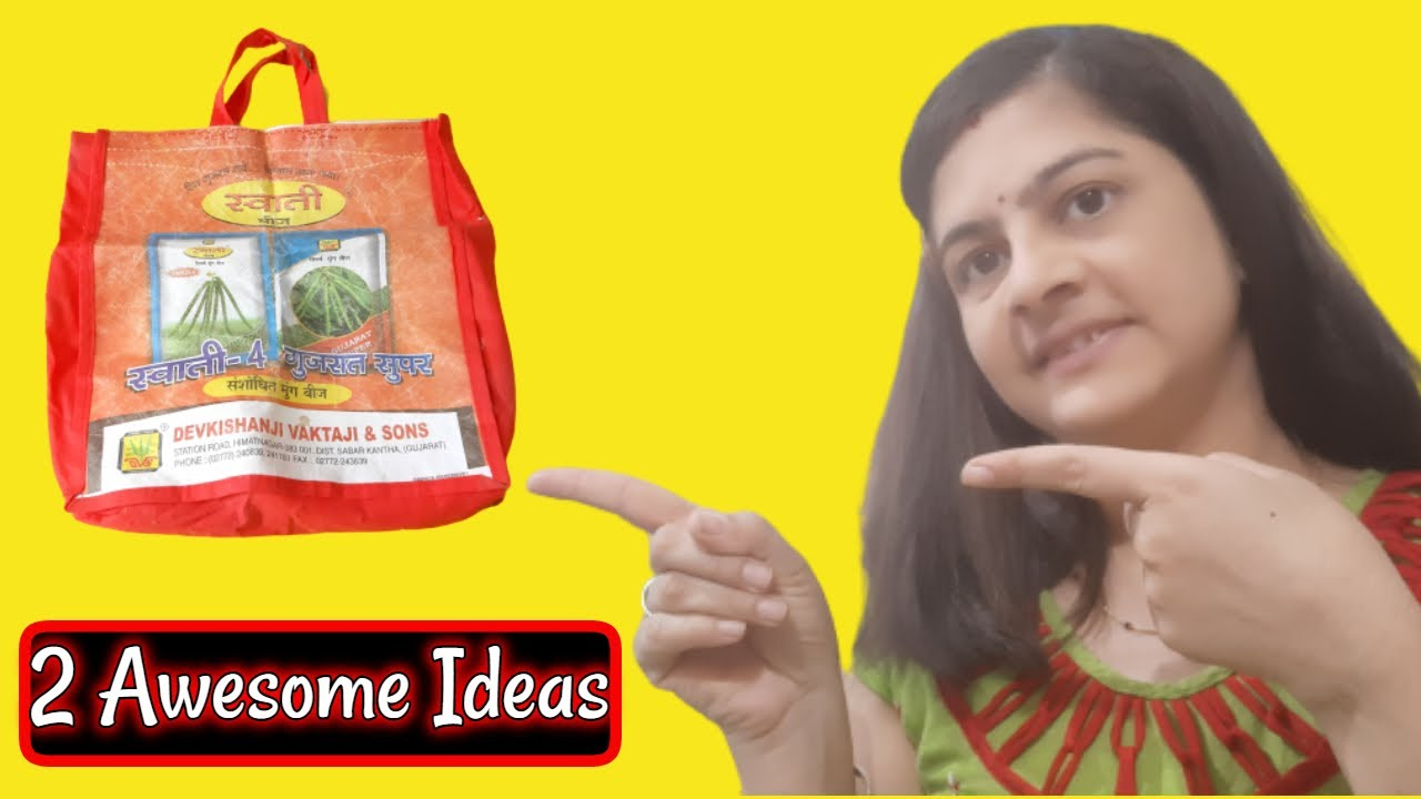 शौपिंग बैग से 2 awesome आईडिया || Easy and Awesome idea of Old shopping bag -Reuse