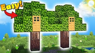 Minecraft: How to Build a 2 Players House in a Tree - Live Inside a Tree! Tutorial