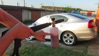 Тест. Пенная насадка для Karcher из Китая Foam Lance