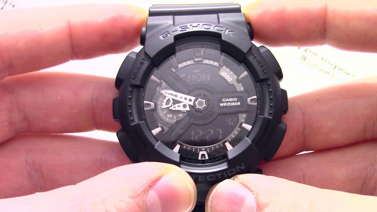 часы casio g shock ga 110 1b ткани быстро