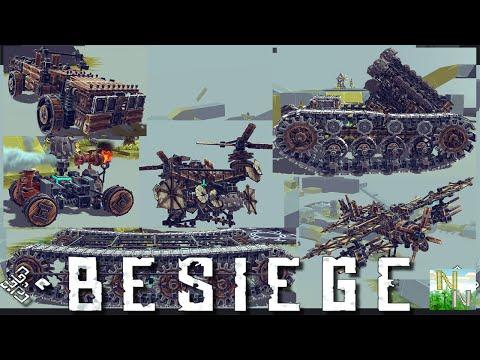 Besiege v0.20 Гусеницы, Ракетницы, полёт и Великолепные устройства.