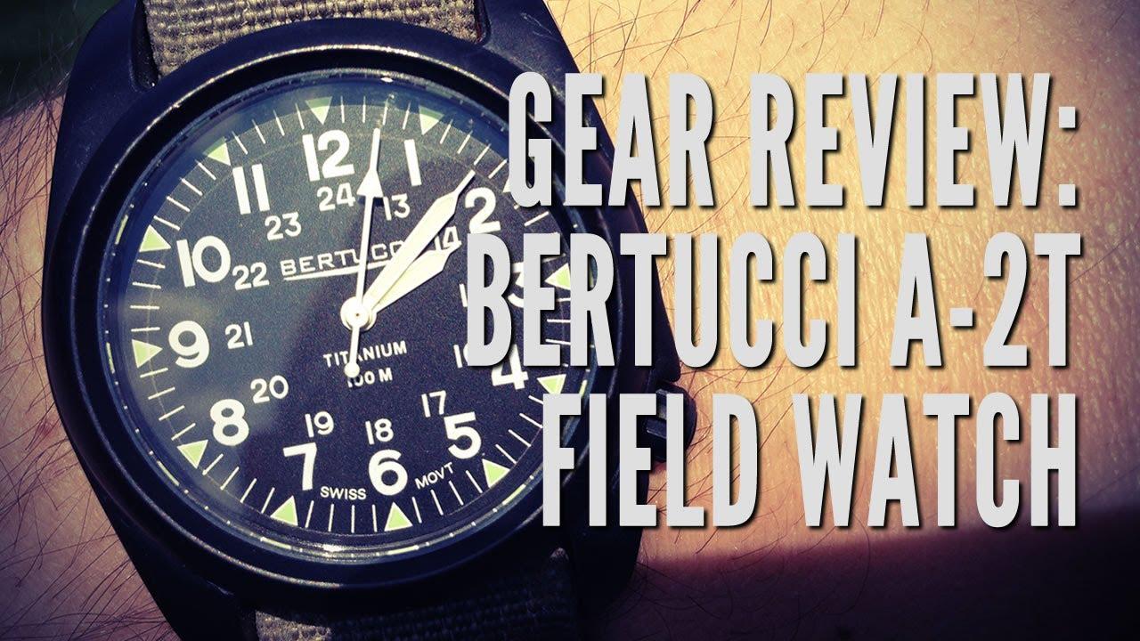 d04f0271874 Gear Review  Bertucci A-2T Titanium Field Watch - YouTube