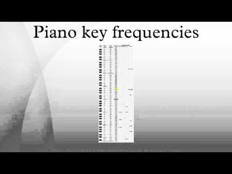 Piano key frequencies