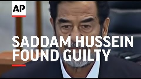 Saddam Hussein found guilty and sentenced to death by hanging - 2006