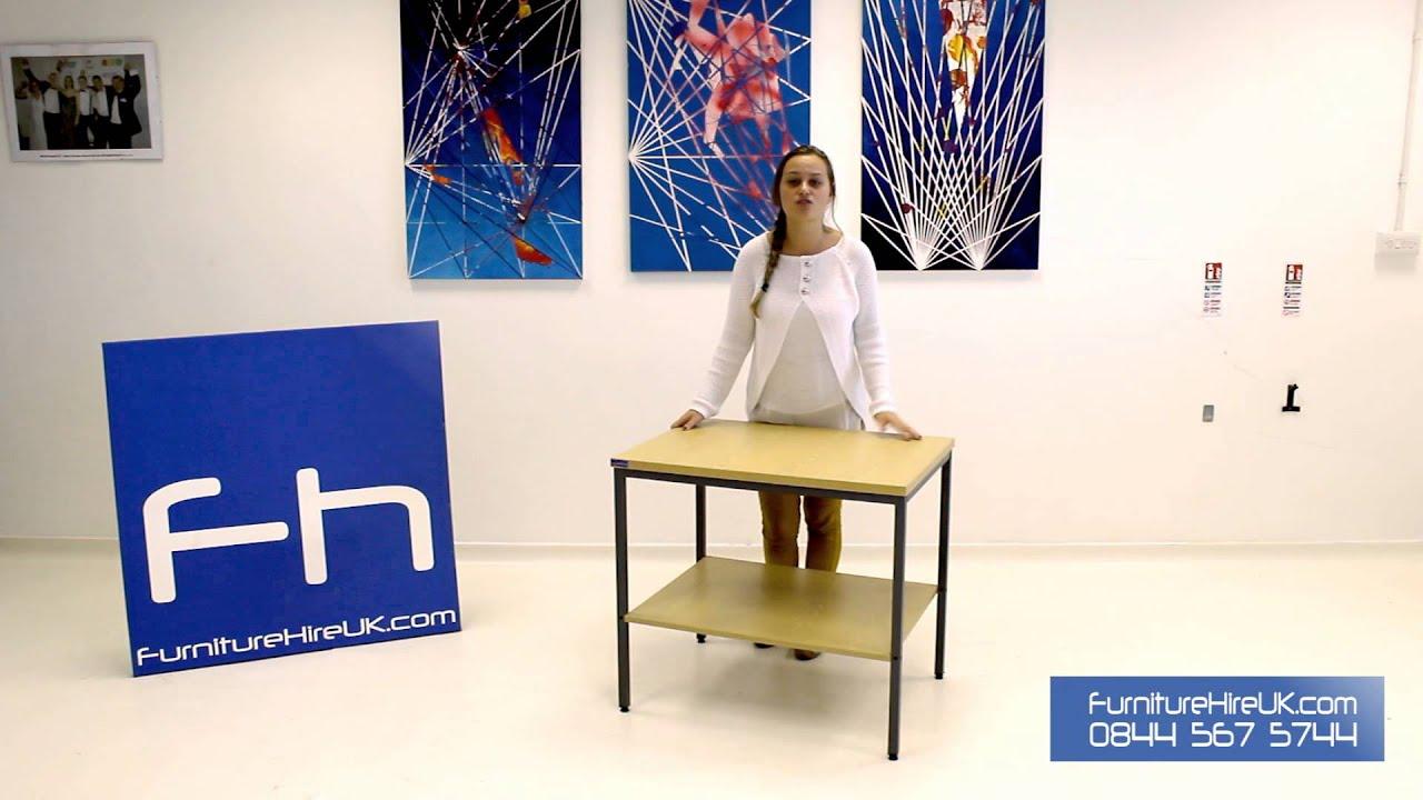 Desk End Printer Stand Demo - Furniture Hire UK
