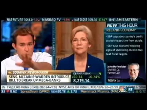 CNBC Anchors Reamed by Sen. Warren on Glass Steagall