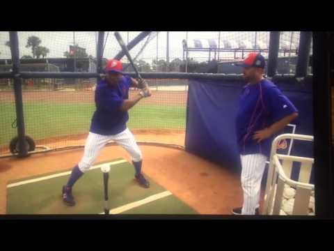 Curtis Granderson   Hitting Approach   Tee Work