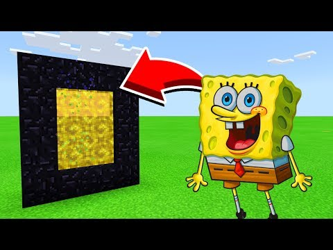 How To Make A Portal To SPONGEBOB In Minecaft Pocket Edition/MCPE