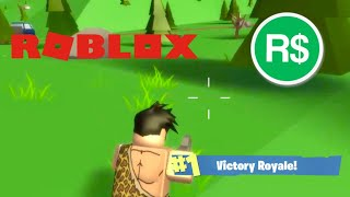 ROBUX GIVEAWAY - FORTNITE ON ROBLOX! L'ÎLE ROYALE ( JEU FAMBAM