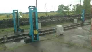 Смена колёсных пар поезда на границе Украина Румыния