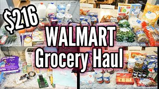 HUGE WALMART TWO WEEK GROCERY HAUL | Grocery Shopping on a Budget | LivingThatMamaLife