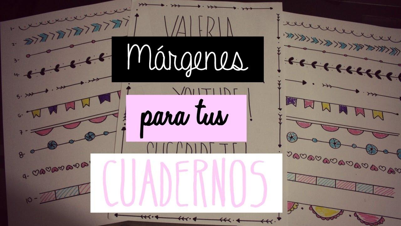 Márgenes para Cuadernos- Apuntes Perfectos - YouTube