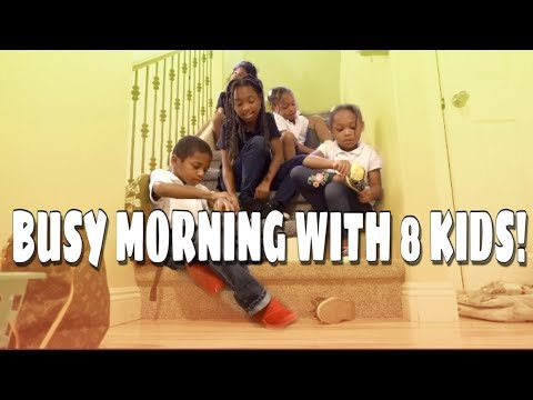 BUSY WEEKDAY MORNING WITH 8 KIDS!| DAY IN THE LIFE OF 8 KIDS