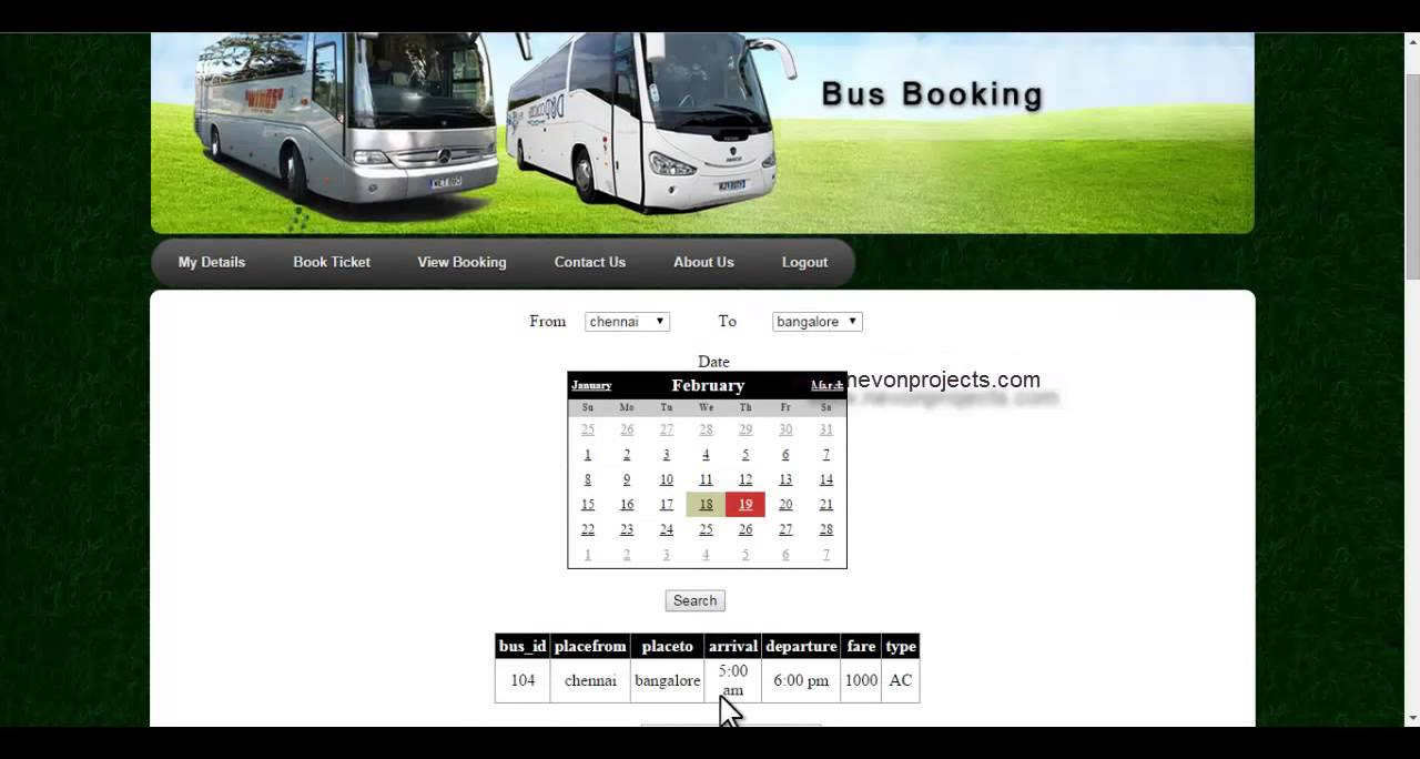 Online bus reservation system project in java free download
