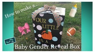 How to Make a Baby Gender Reveal Box