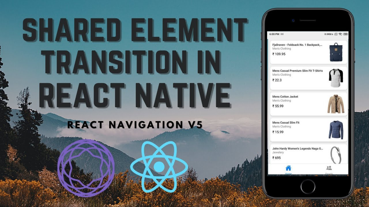 Shared Element Transition in  React Native   React Navigation V5   Animation