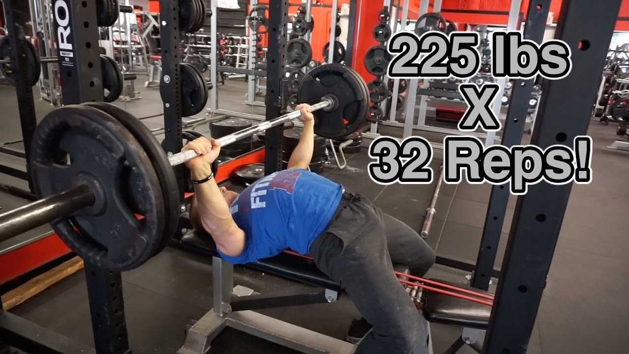 How to Bench Press 225lbs Like a NFL Linebacker - Hunt Fitness