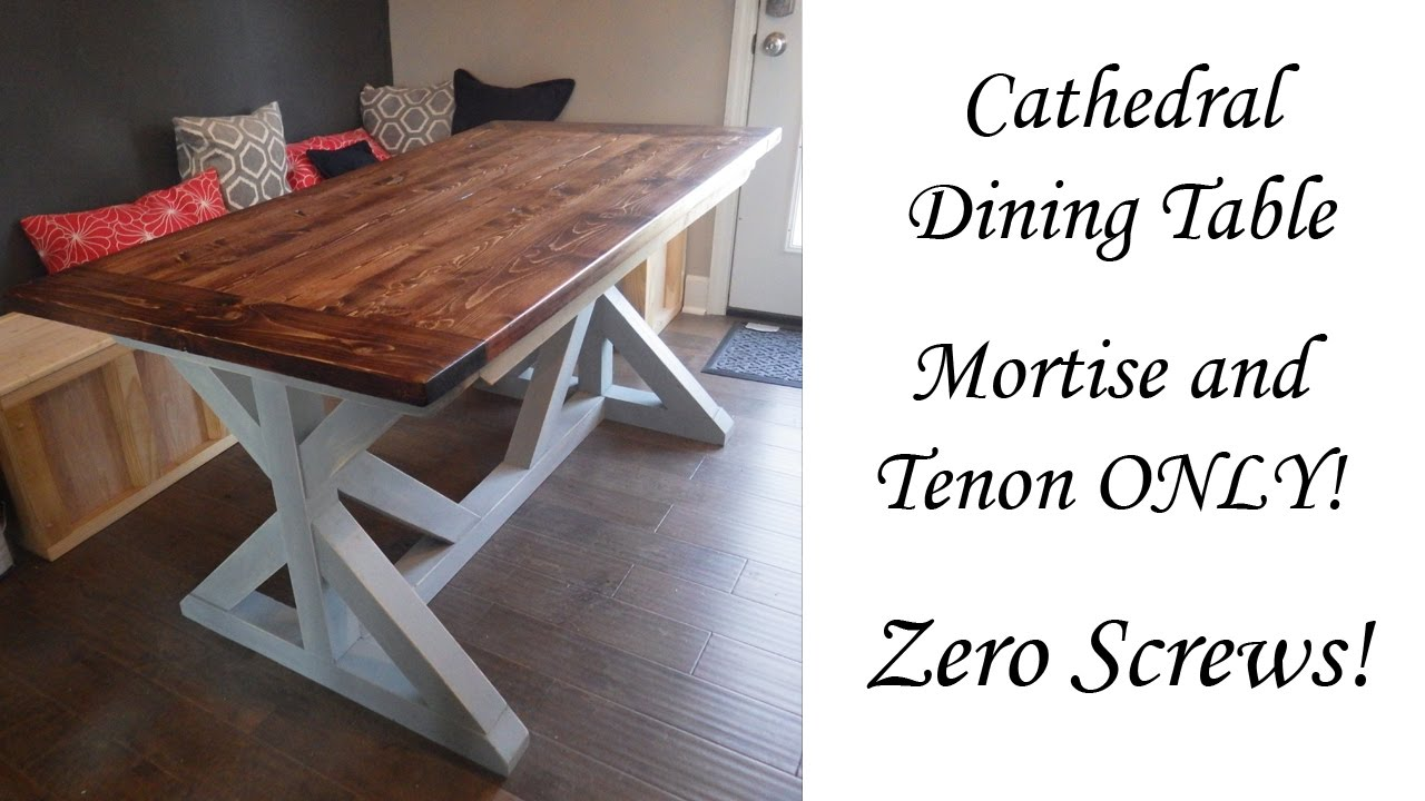 Farmhouse Table Zero Screws Timelapse Youtube