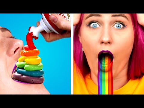 9 Amazing Rainbow Treat Recipes! Rainbow & Unicorn Themed Food Ideas