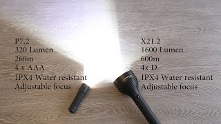 A comparison of the little Led Lenser P7.2 and his big brother X21....