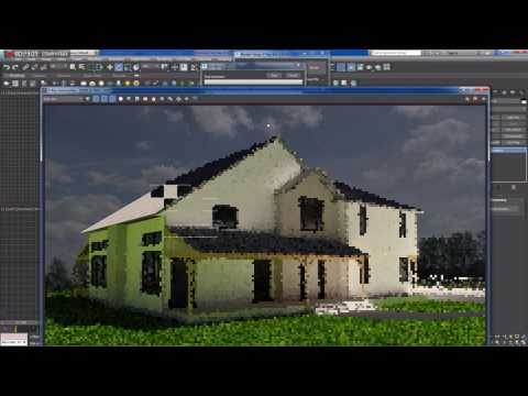Modeling and rendering a house (time lapse) - Part 5