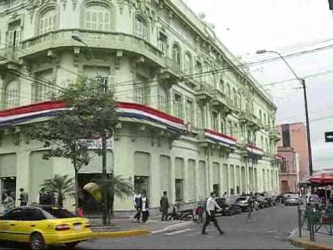 PARAGUAY ASUNCION RECORRIDO POR CALLES DEL CENTRO HISTORICO