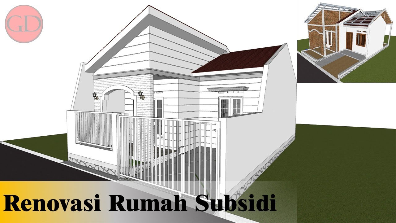 Keren Desain Renovasi Rumah Subsidi Type 27 60 Youtube