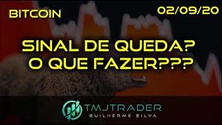 Análise Bitcoin - BTC - 02/09/2020 - SINAL DE QUEDA? O QUE FAZER???