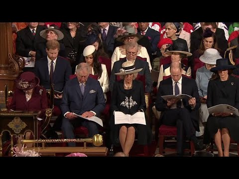 British Royal Family & Meghan Markle ALL MOMENTS - Commonwealth Day Service 2018