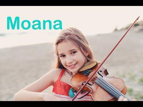 Moana How Far I&39;ll Go - Karolina Protsenko - Violin Cover At The Ocean