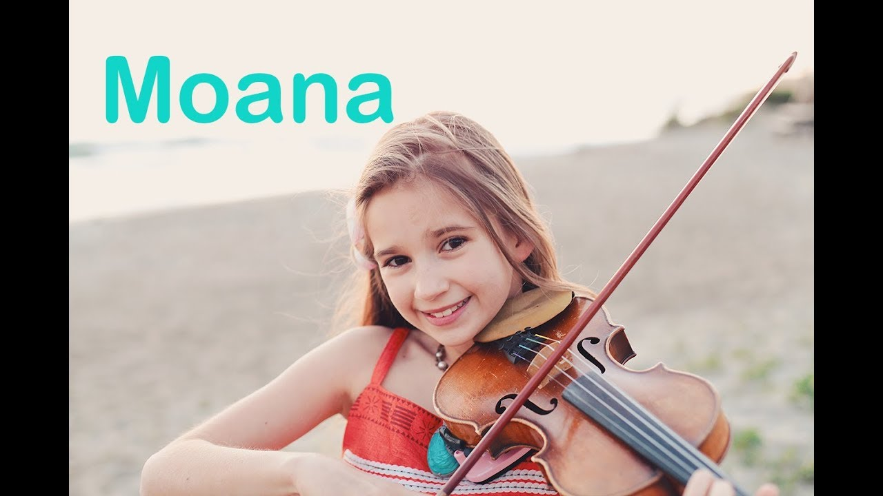 Moana How Far I Ll Go Karolina Protsenko Violin Cover At The Ocean Youtube