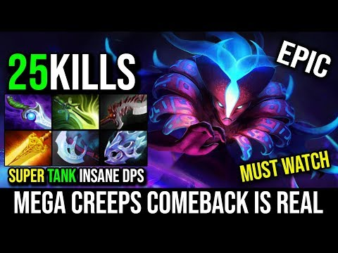 Unbelievable MEGA CREEPS COMEBACK [Spectre] The Best Carry to Make a Real ComeBack Babyknight DotA 2