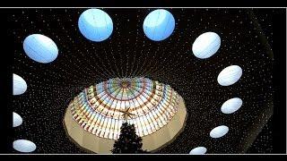 Happy New Year 2104  - Giant Christmas Tree at South Coast Plaza CA