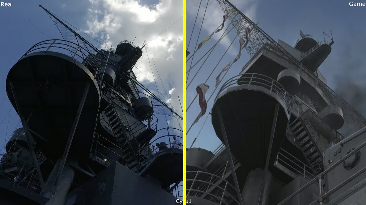 Call of duty wwii uss texas map game vs real life comparison youtube call of duty wwii uss texas map game vs real life comparison gumiabroncs Choice Image