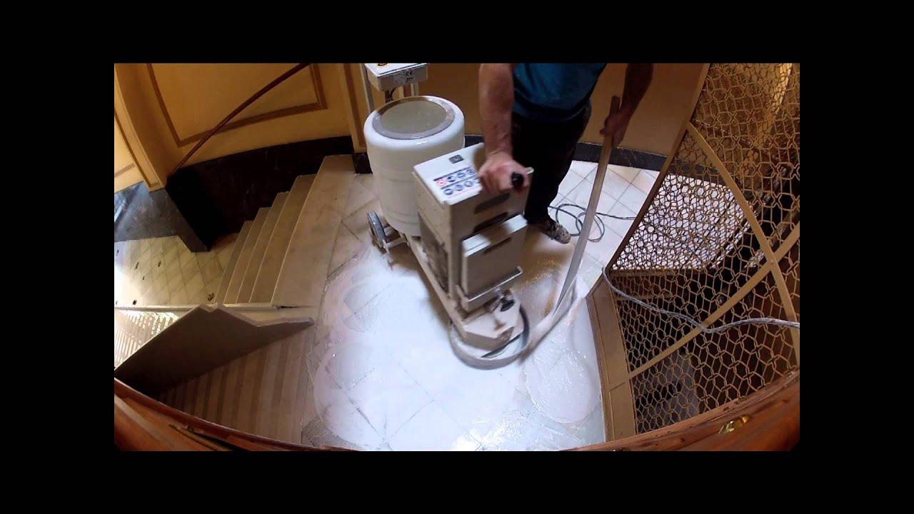 Pulidora suelos monof sica desbastando y puliendo pavimento de m rmol blanco macael youtube - Maquina pulidora suelos ...