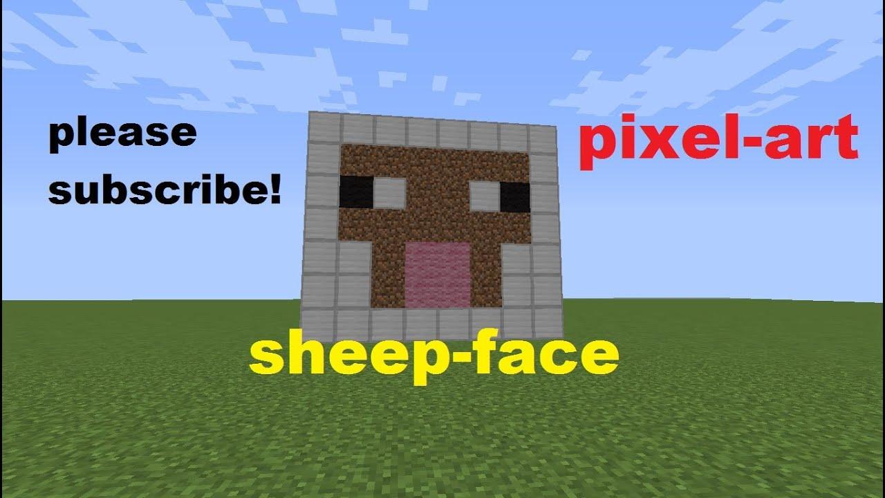 minecraft -pixel art- sheep face - YouTube