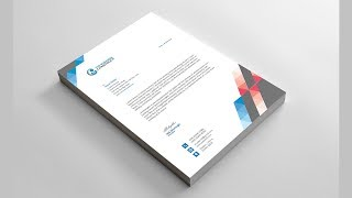 How to Design A Letterhead In Adobe Photoshop - Photoshop Bangla Tutorial Mp3