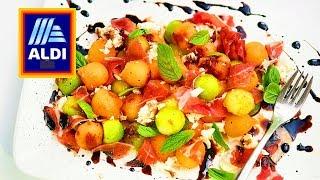 Refreshing Melon Salad     ALDI and a Garden THE KITCHEN ( Charentais &amp Honeydew )