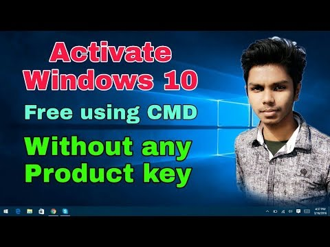 How to Activate Windows 10 Free using CMD without any key.Lettest 2019