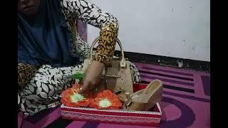 Cara Membuat Hantaran Tas Cantik dan Sandal Elegant