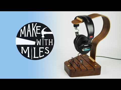 Headphone Stand with SD card storage//#rocklerbentwoodchallenge