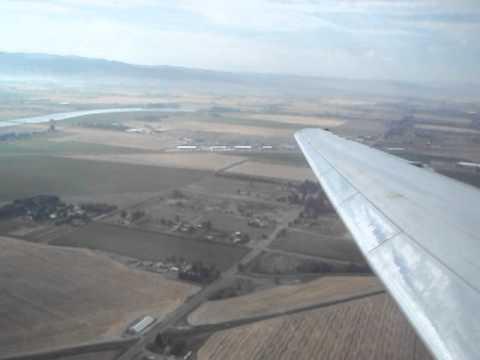 Allegiant Air Md 83 Landing Idaho Falls Youtube
