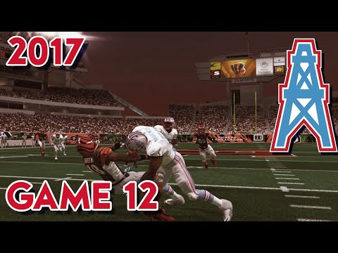 Madden 15 Franchise Mode - Houston Oilers | Season 4, Game 12 @ Bengals