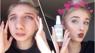 fixing the worst week of my life with makeup & sELf cArE