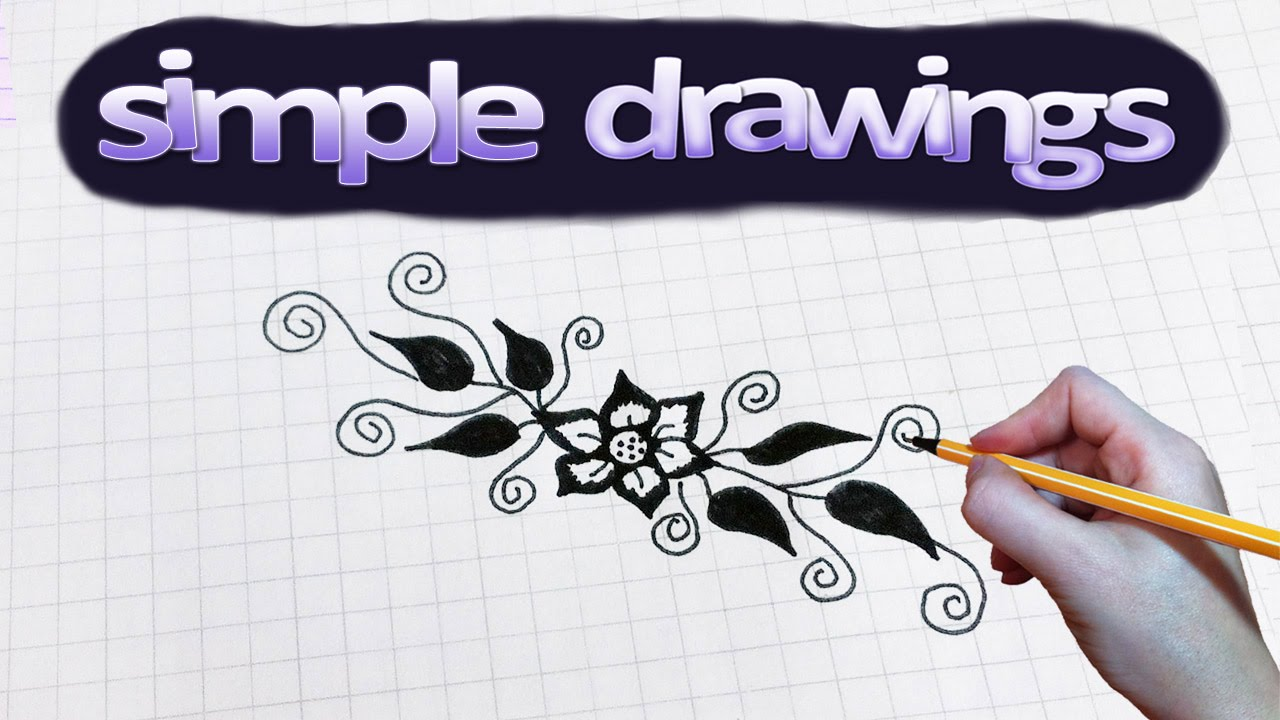 Simple Drawings 43 How To Draw Flower Pattern