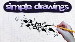 Simple drawings #43 How to draw flower pattern