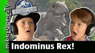 Indominus Rex Lego Jurassic World PS4 Gameplay with HobbyTiger + HobbySpider by HobbyGamesTV.