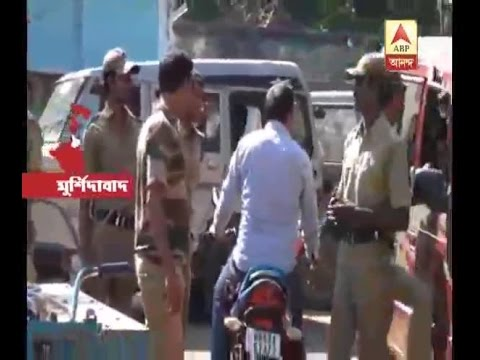 Clash between public and police at Murshidabad